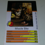 Action Man Power Cards 1996 Missile Bike Trading card @sold@